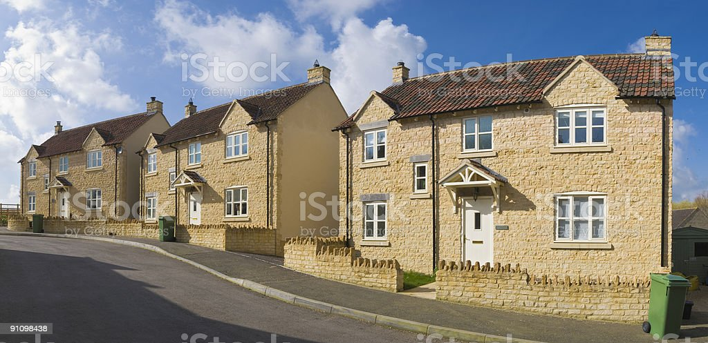 Three little houses royalty-free stock photo
