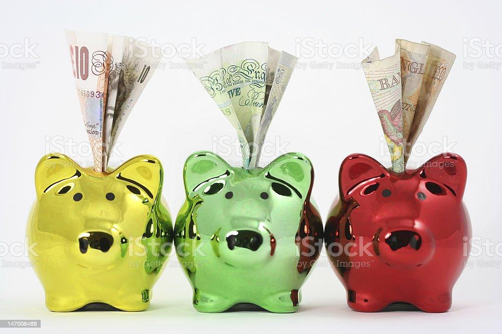 Three little piggies stock photo