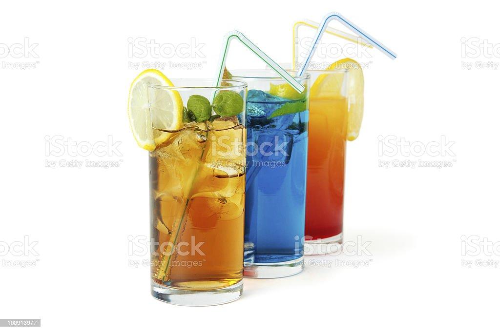 Three long drinks royalty-free stock photo