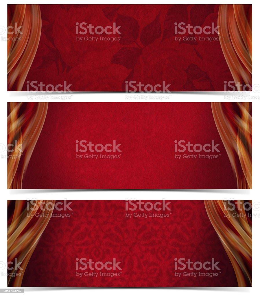Three Luxury Banners royalty-free stock photo