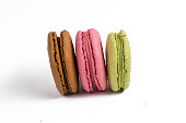 Three Macaroons isolated
