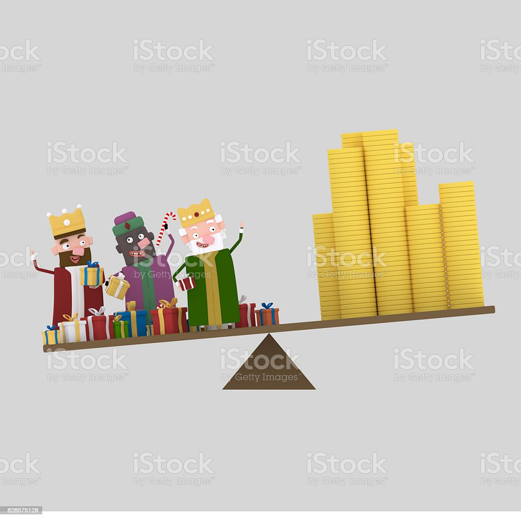 Three Magic Kings Balance stock photo