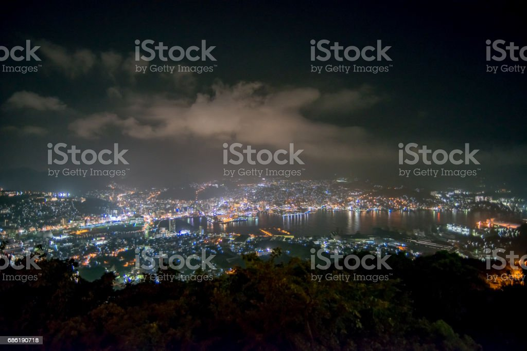 Three major nights in Japan stock photo