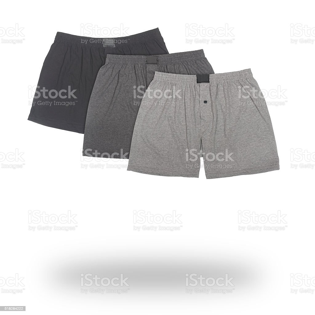 three male boxers isolated stock photo