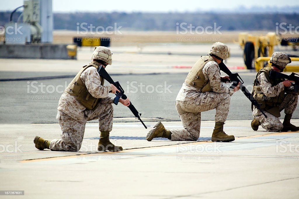 Three Marines royalty-free stock photo