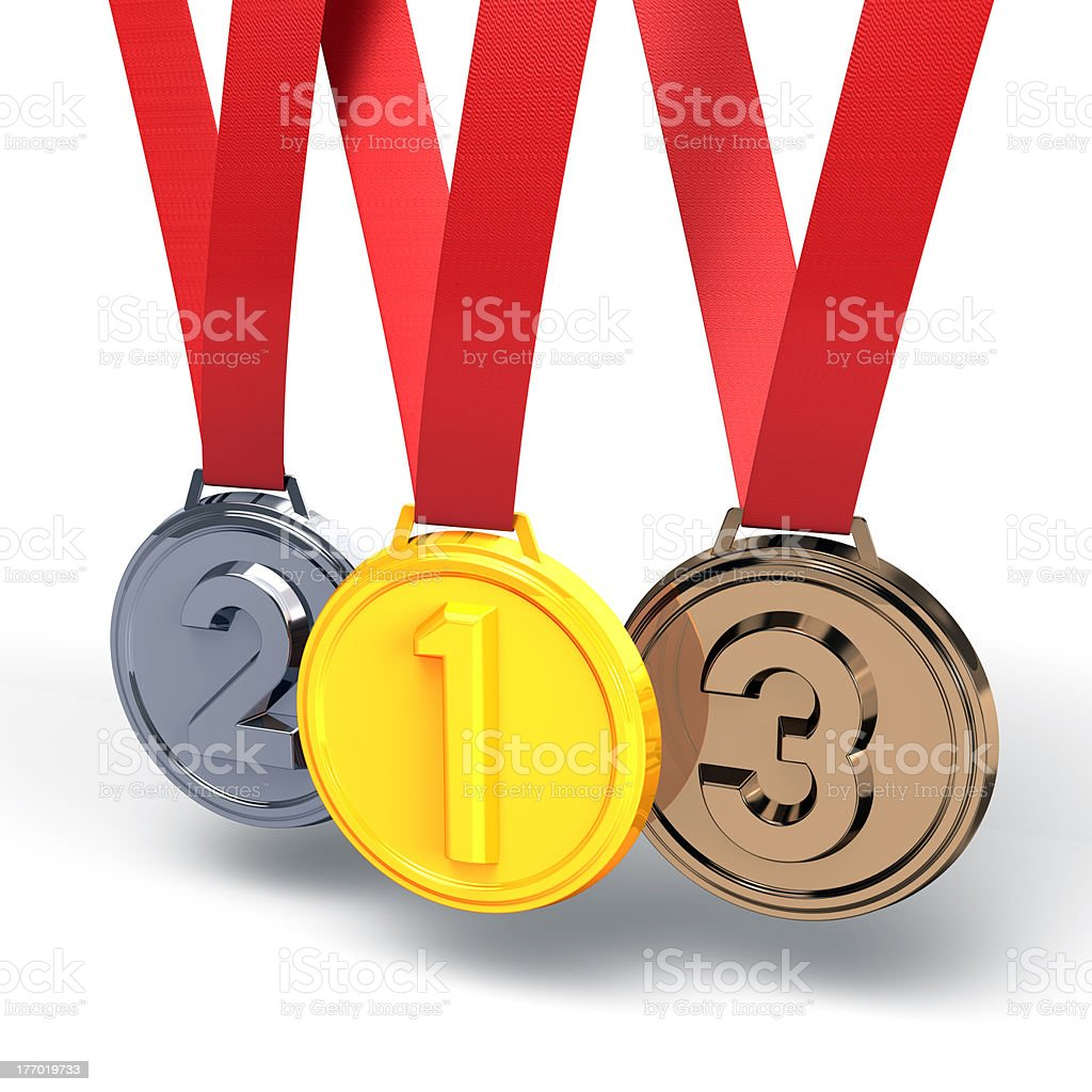 Three Medals royalty-free stock photo