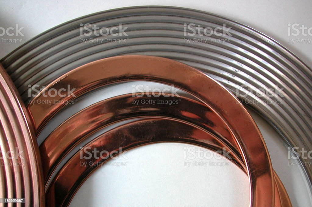 Three metal gaskets royalty-free stock photo