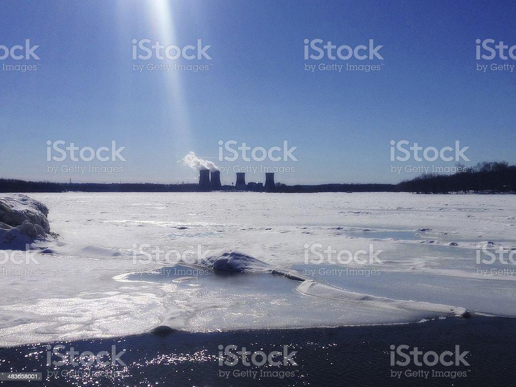 Three Mile Island stock photo