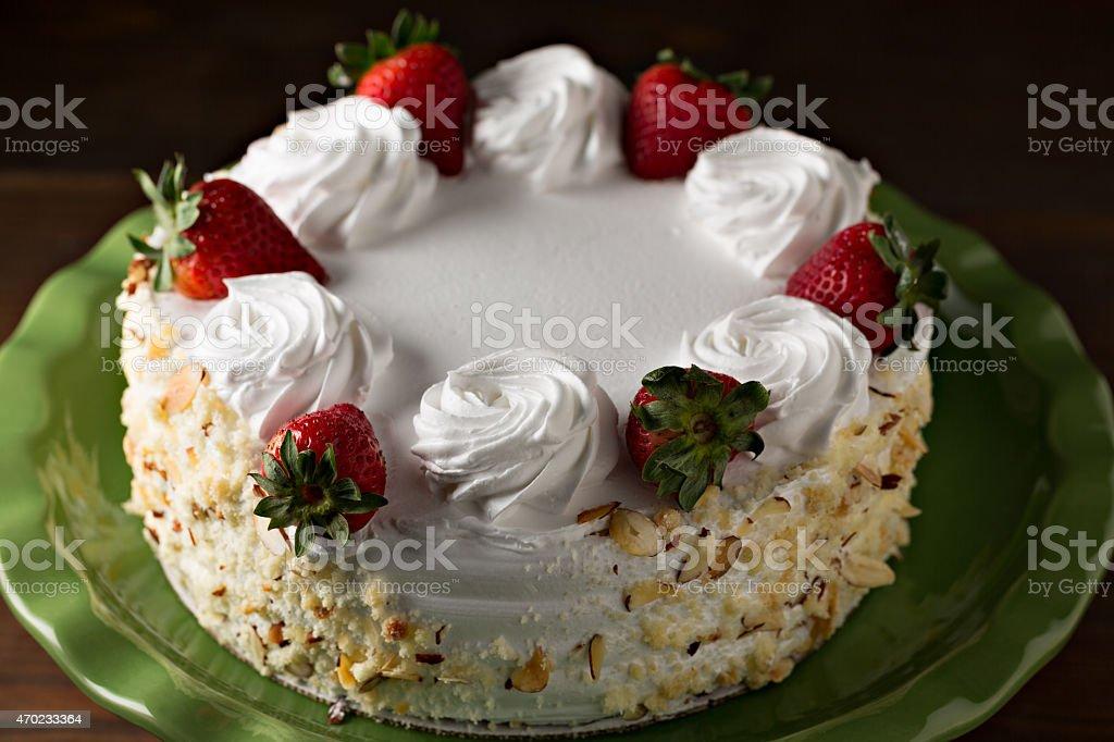 Tres Leches Cake stock photo
