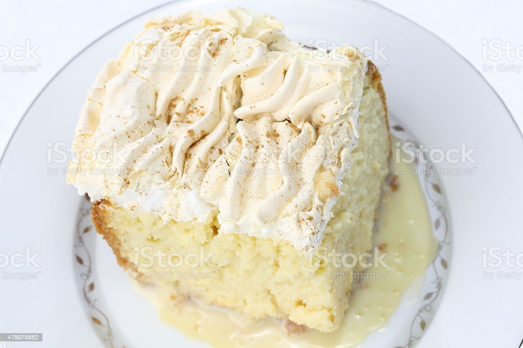 Tres Leches Cake stock photo