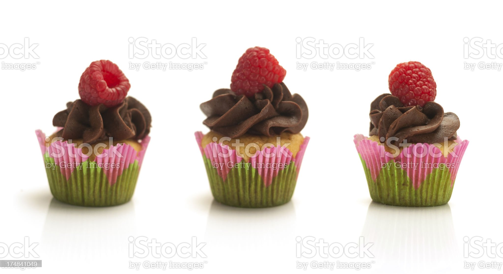 Three Mini Cupcakes royalty-free stock photo