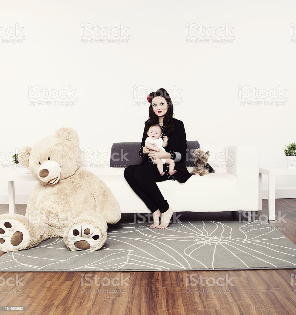 Three Month Old Baby with Mother royalty-free stock photo