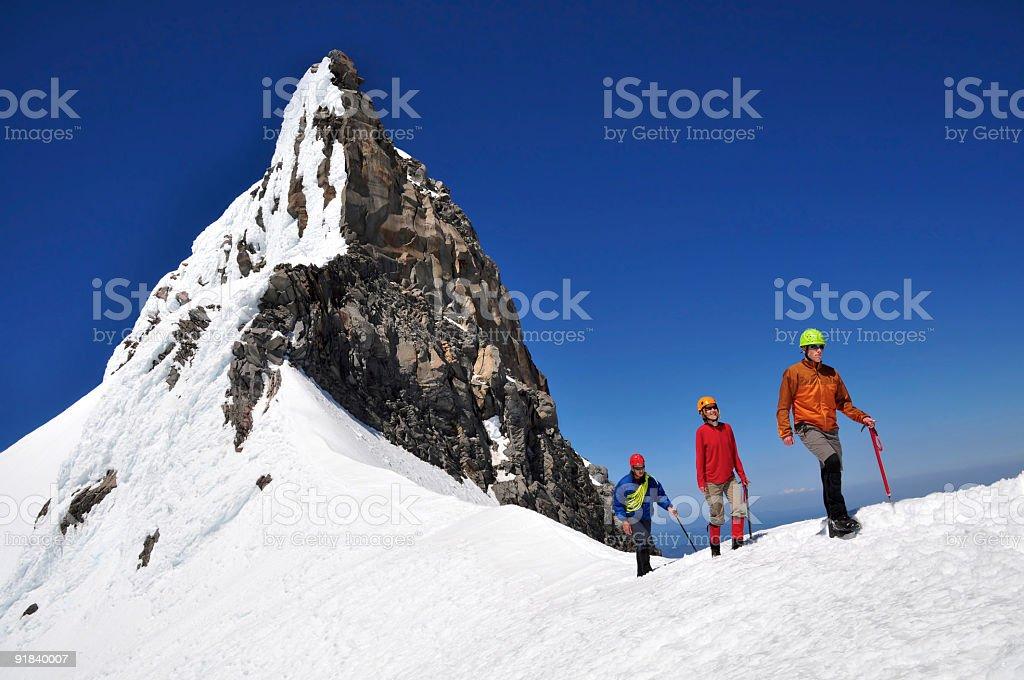 Three mountaineers royalty-free stock photo