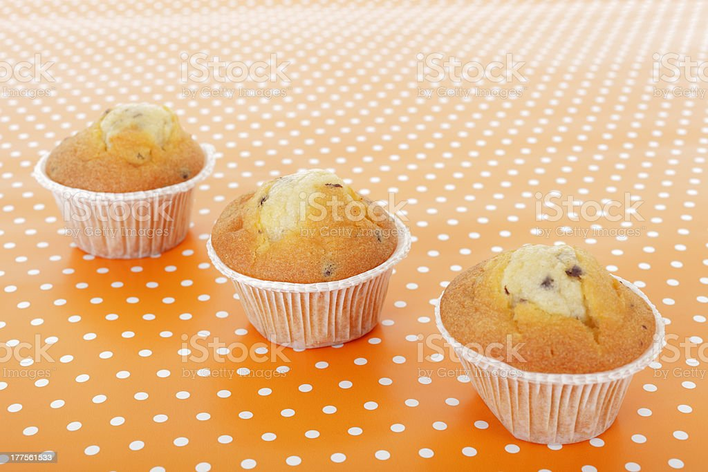 Three muffins royalty-free stock photo