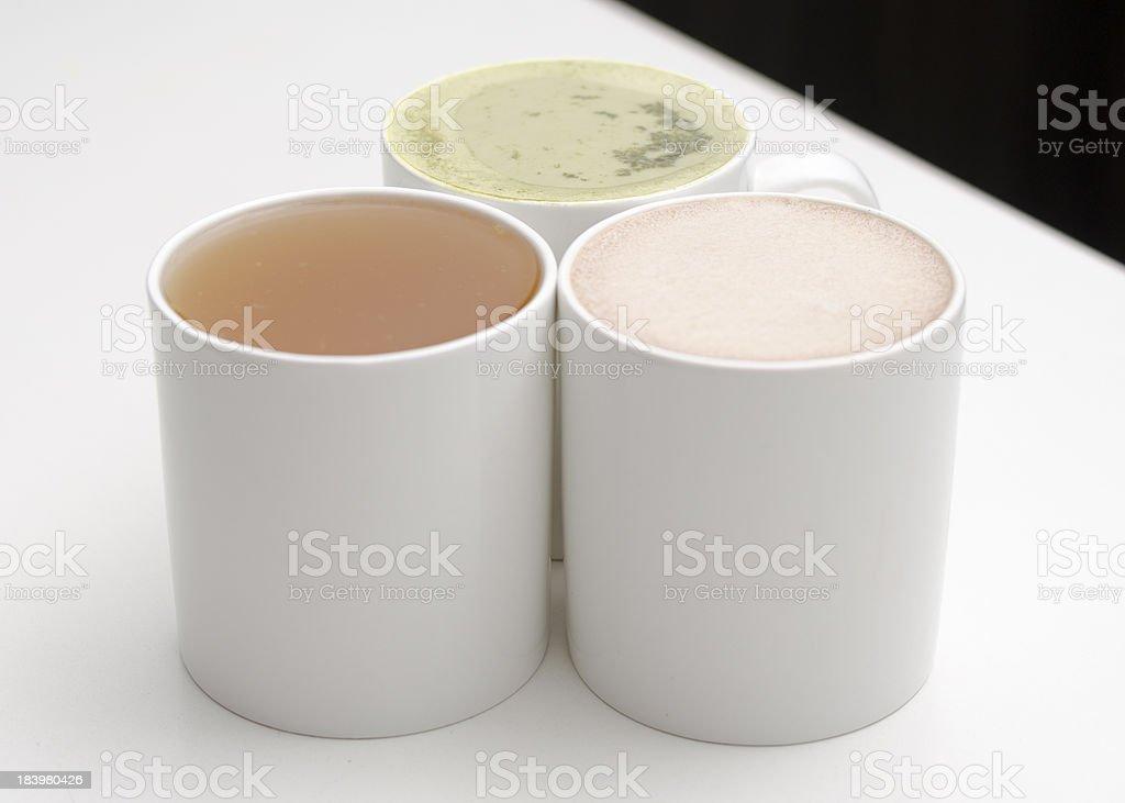 Three Mugs of Tea royalty-free stock photo