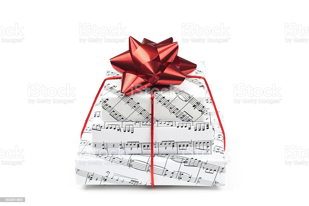 Three Musical Gifts royalty-free stock photo