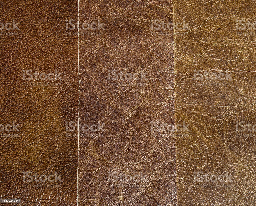 three natural leather textures royalty-free stock photo