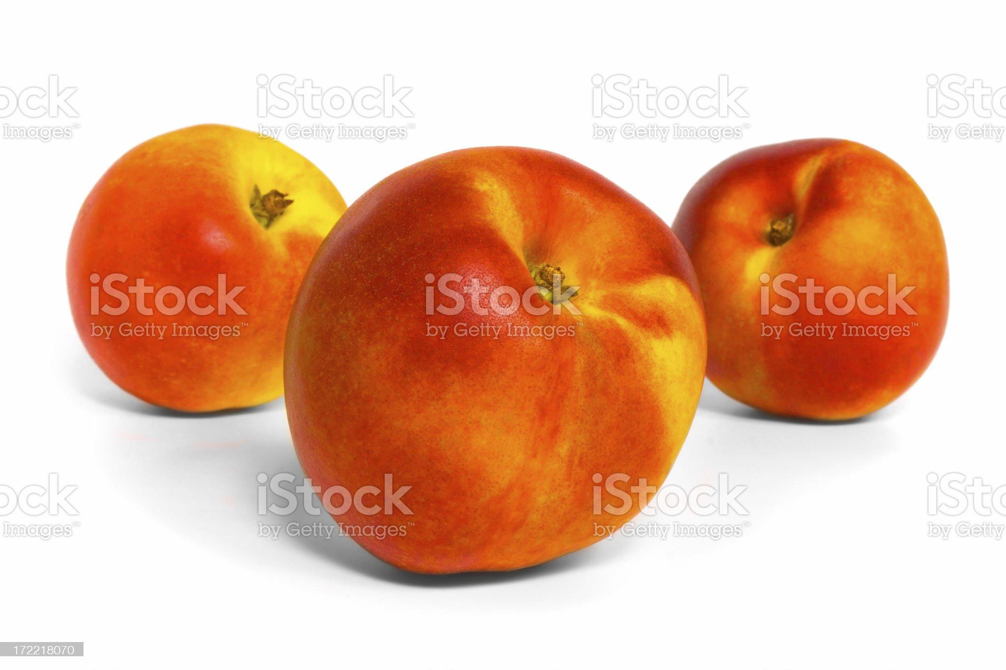 Three Nectarines royalty-free stock photo