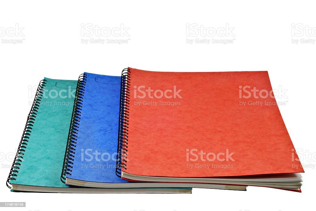 Three Notebooks royalty-free stock photo