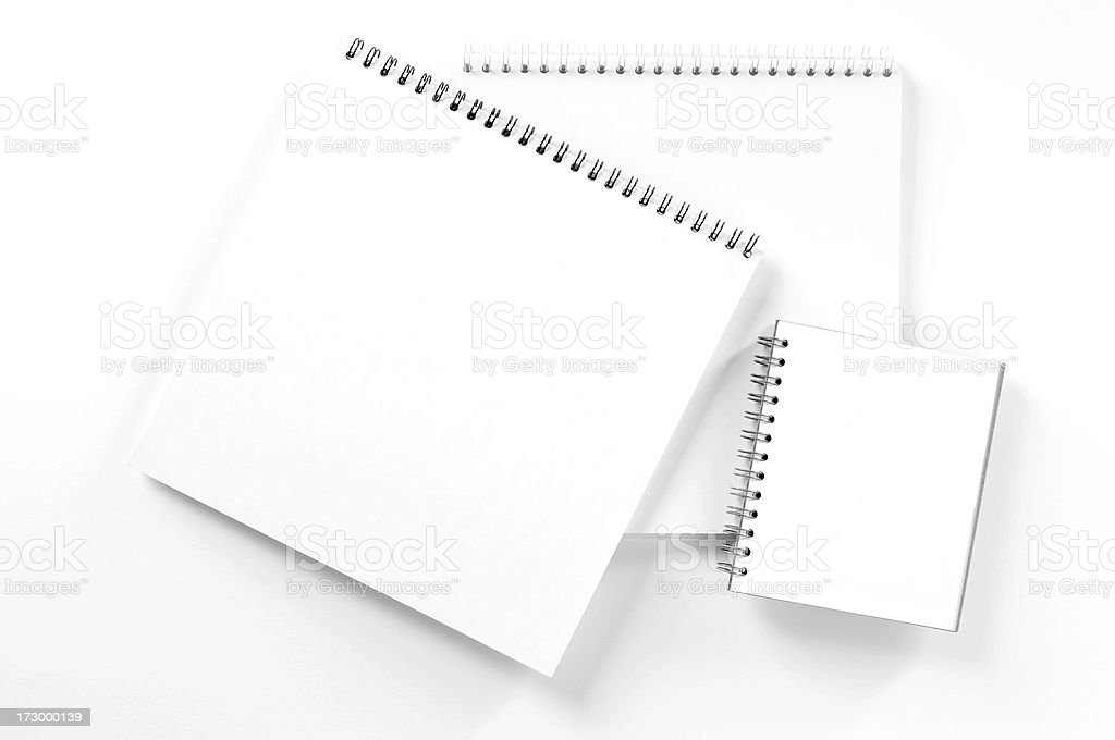Three Notepads royalty-free stock photo