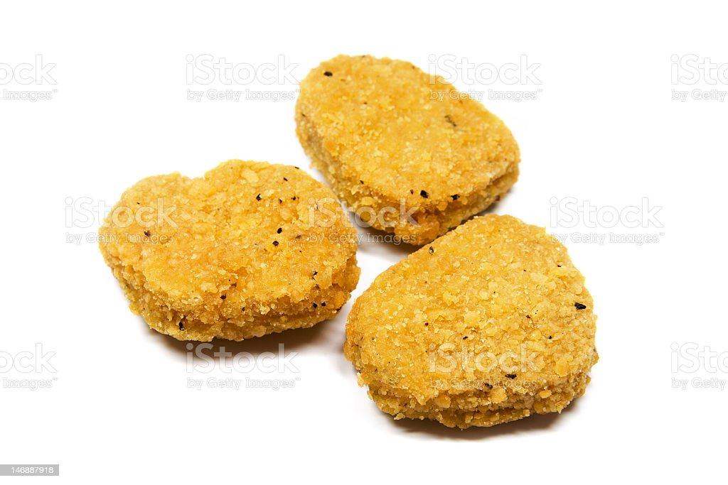 Three Nuggets stock photo