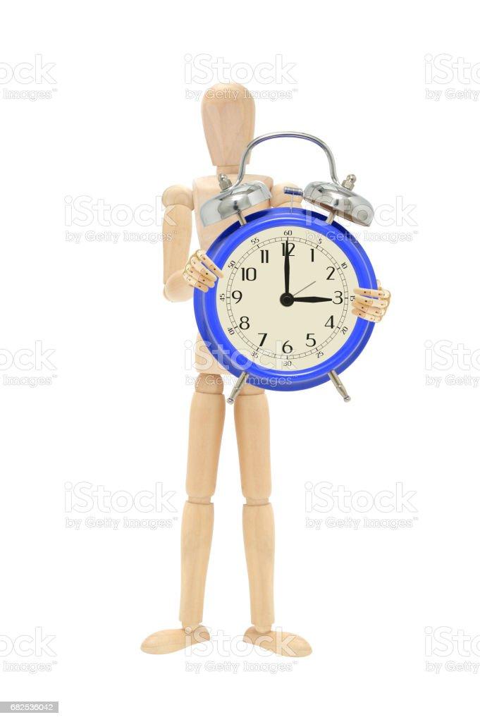 Three O'Clock Alarm Clock stock photo
