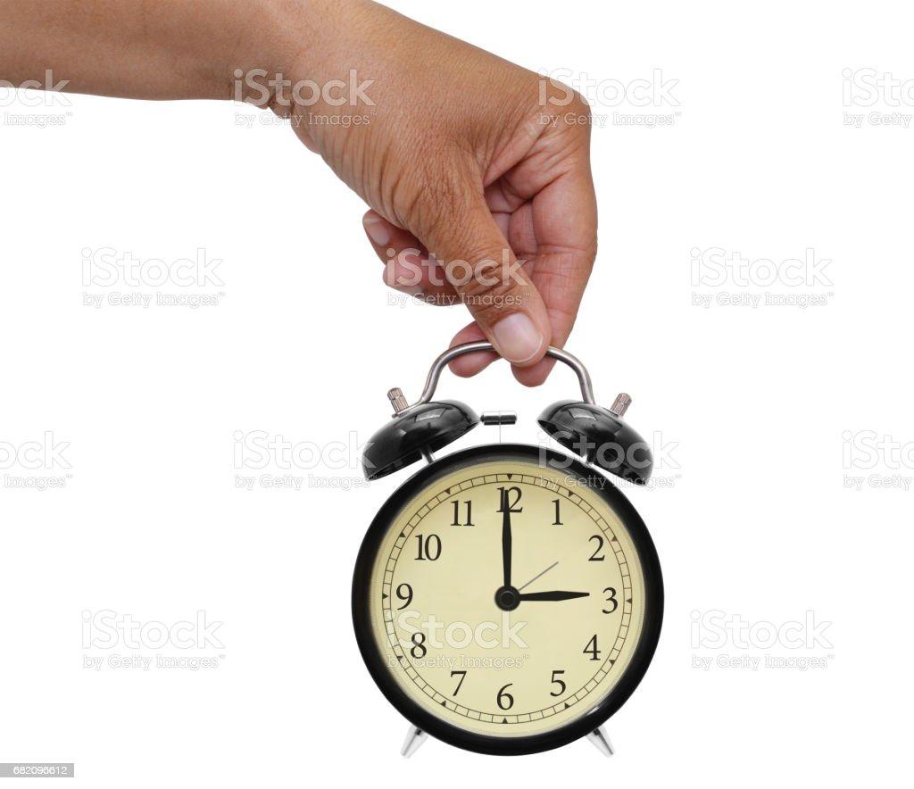 Three O'Clock Alarm stock photo