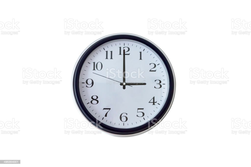 Three o'clock stock photo
