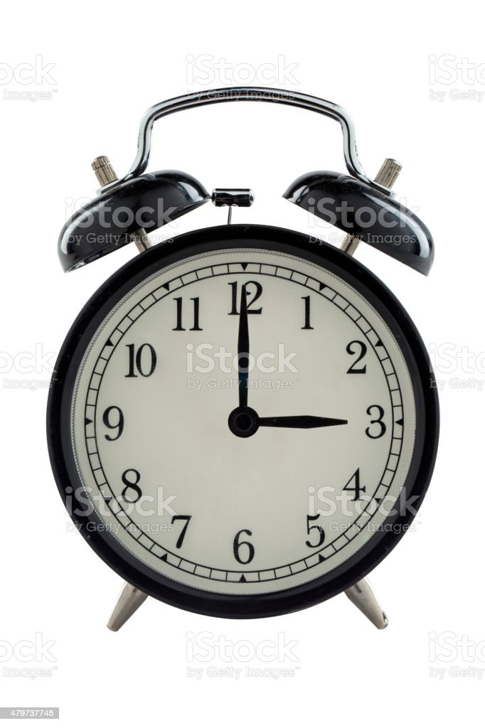 Three o'clock - Stock Image stock photo