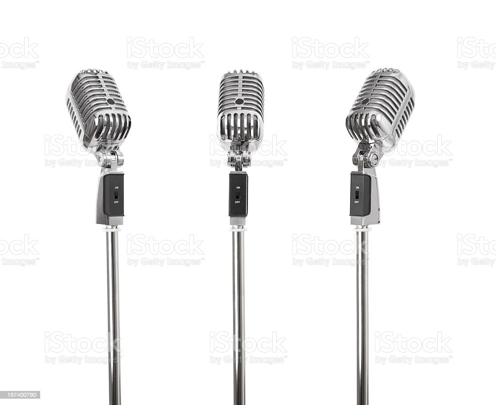 Three of a kind - Retro Microphones (+clipping paths, XXL) stock photo