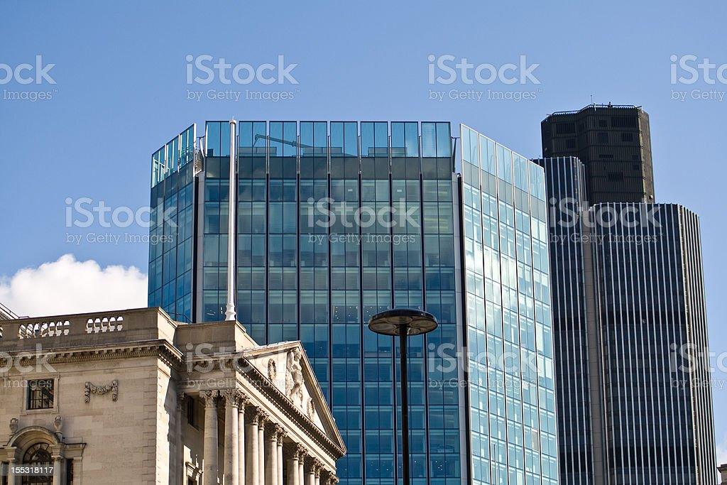 Three Office Buildings stock photo