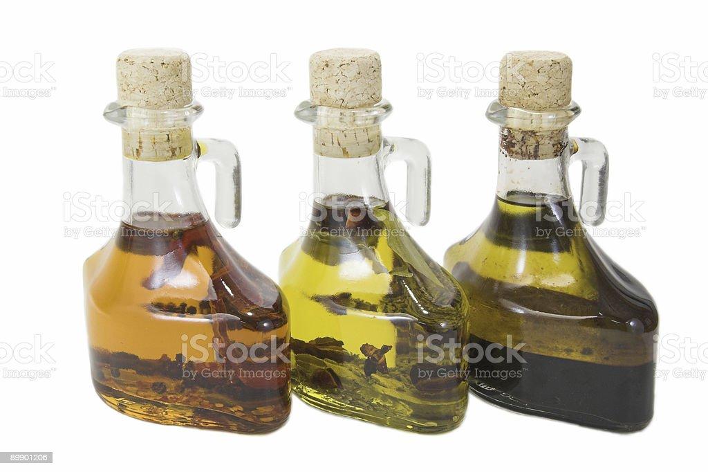 Three oils royalty-free stock photo