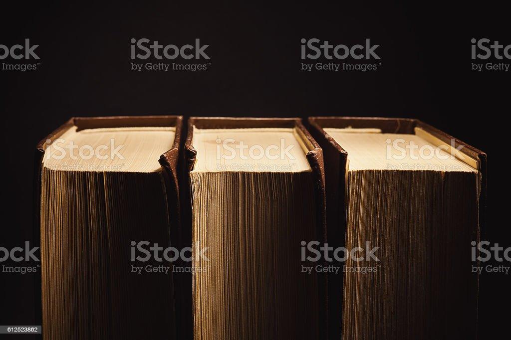 Three Old Book stock photo