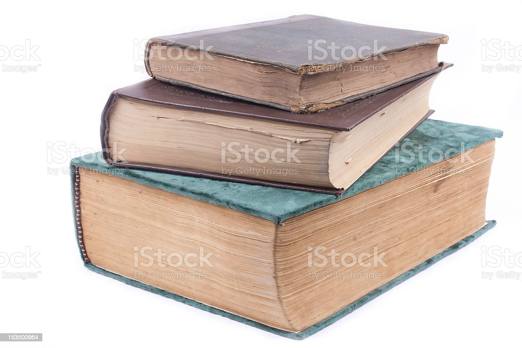 three old books royalty-free stock photo