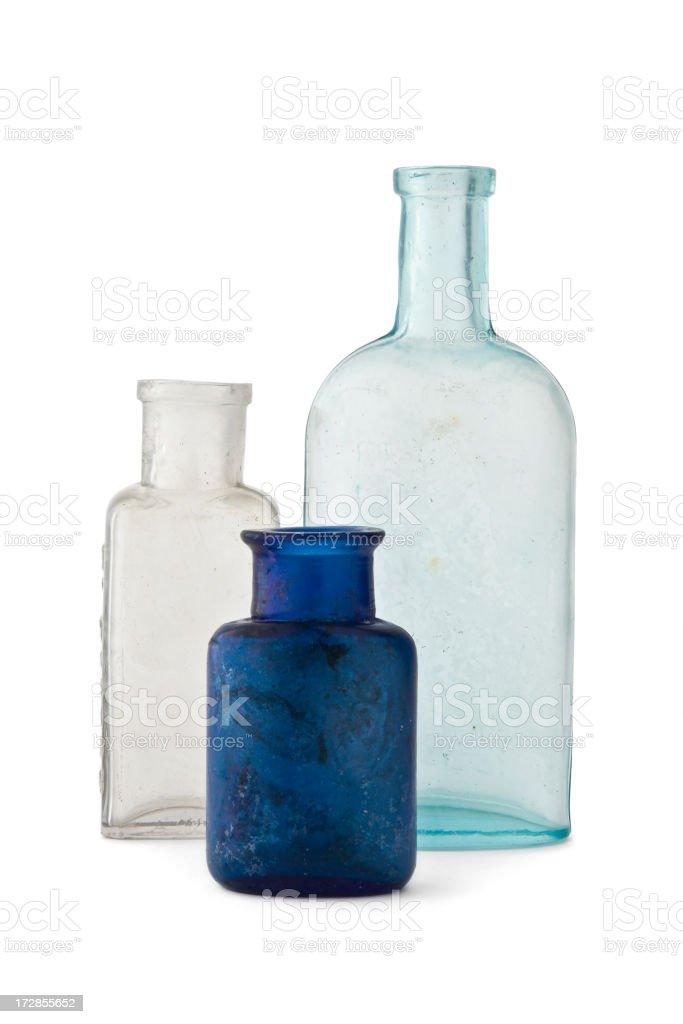 Three Old Bottles royalty-free stock photo