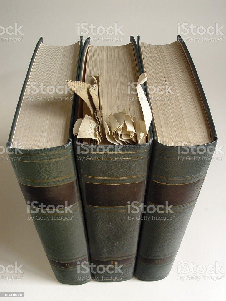 Three old volumes royalty-free stock photo