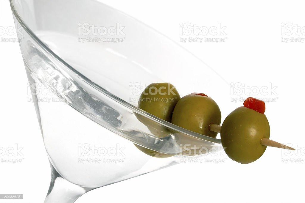 Three Olive Martini royalty-free stock photo