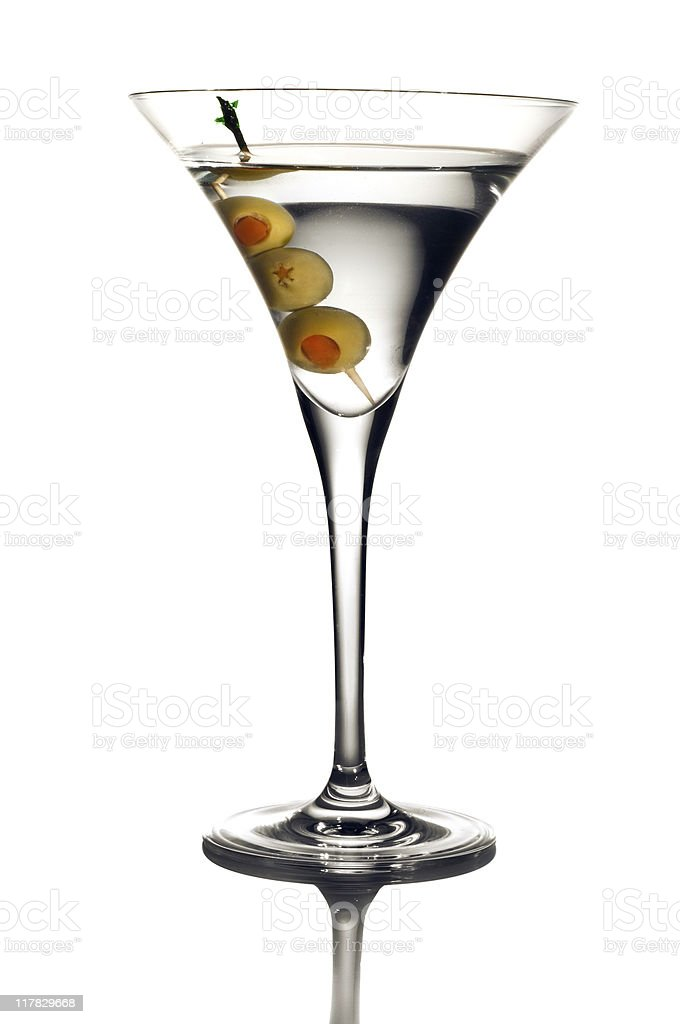 Three Olive Martini Up stock photo