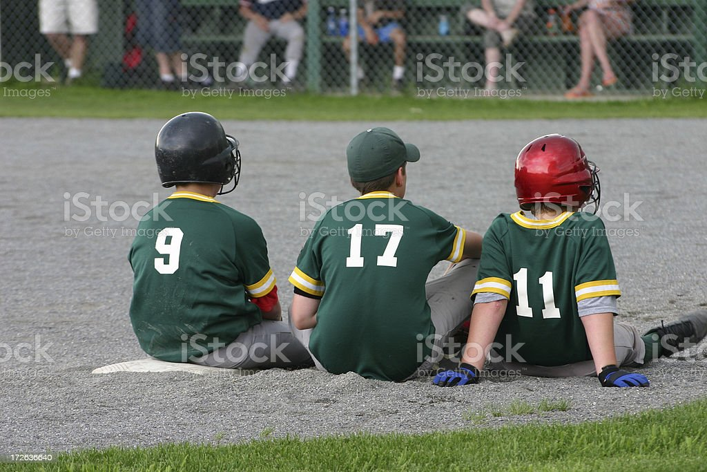 three on no outs stock photo