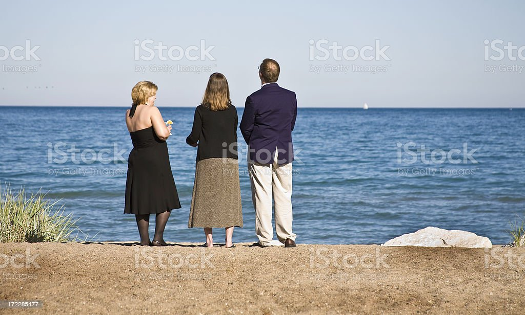 three on the beach royalty-free stock photo