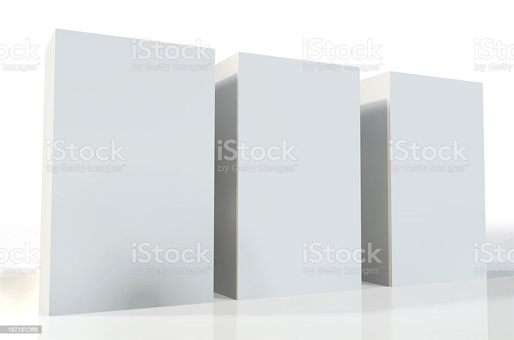 Three Packages royalty-free stock photo