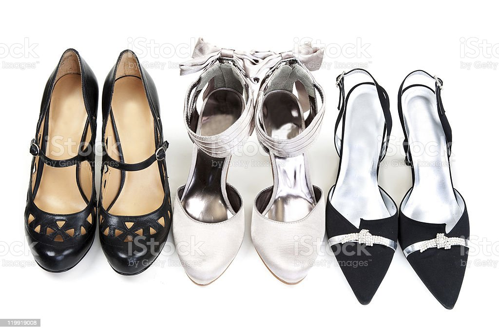 Three pairs stock photo