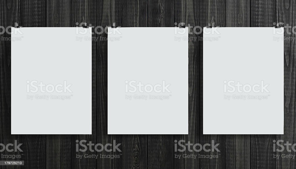three paper card royalty-free stock photo