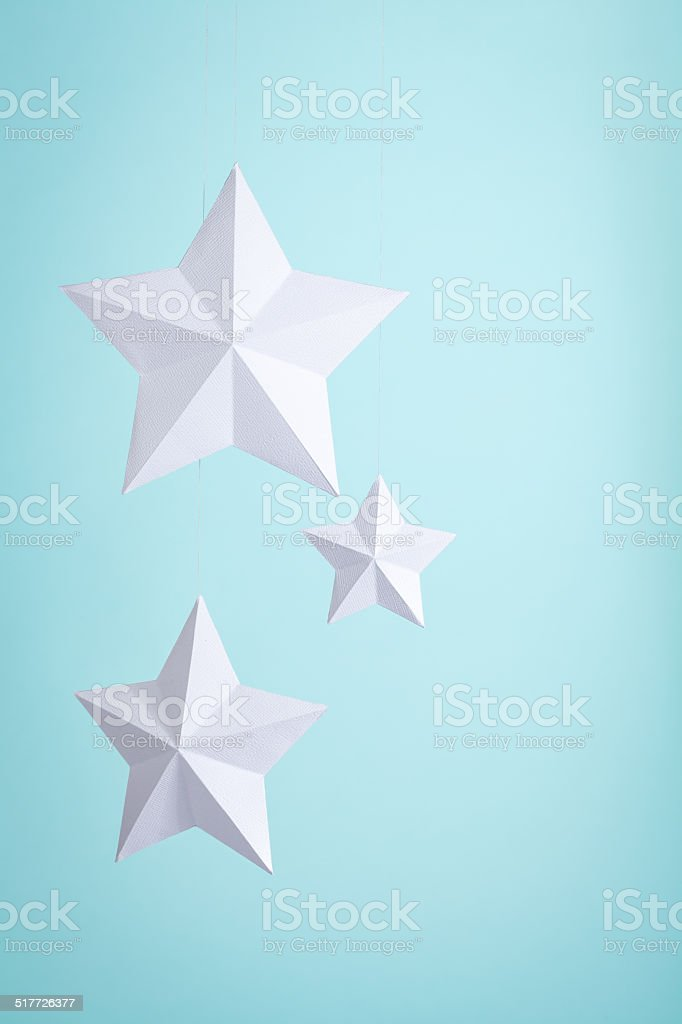 Three Paper Stars stock photo