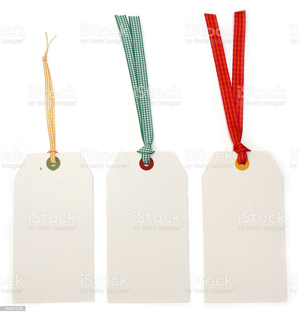 Three paper tags royalty-free stock photo