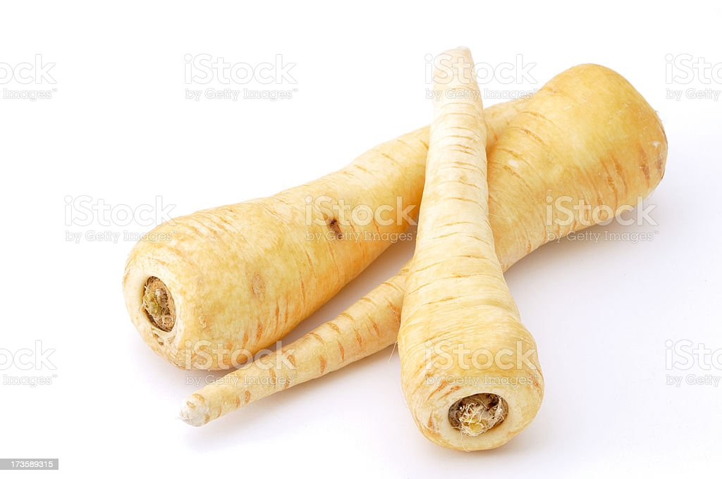 Three Parsnips stock photo