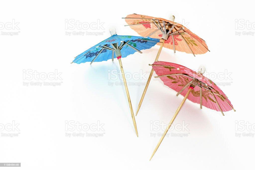 Three Party Umbrellas stock photo