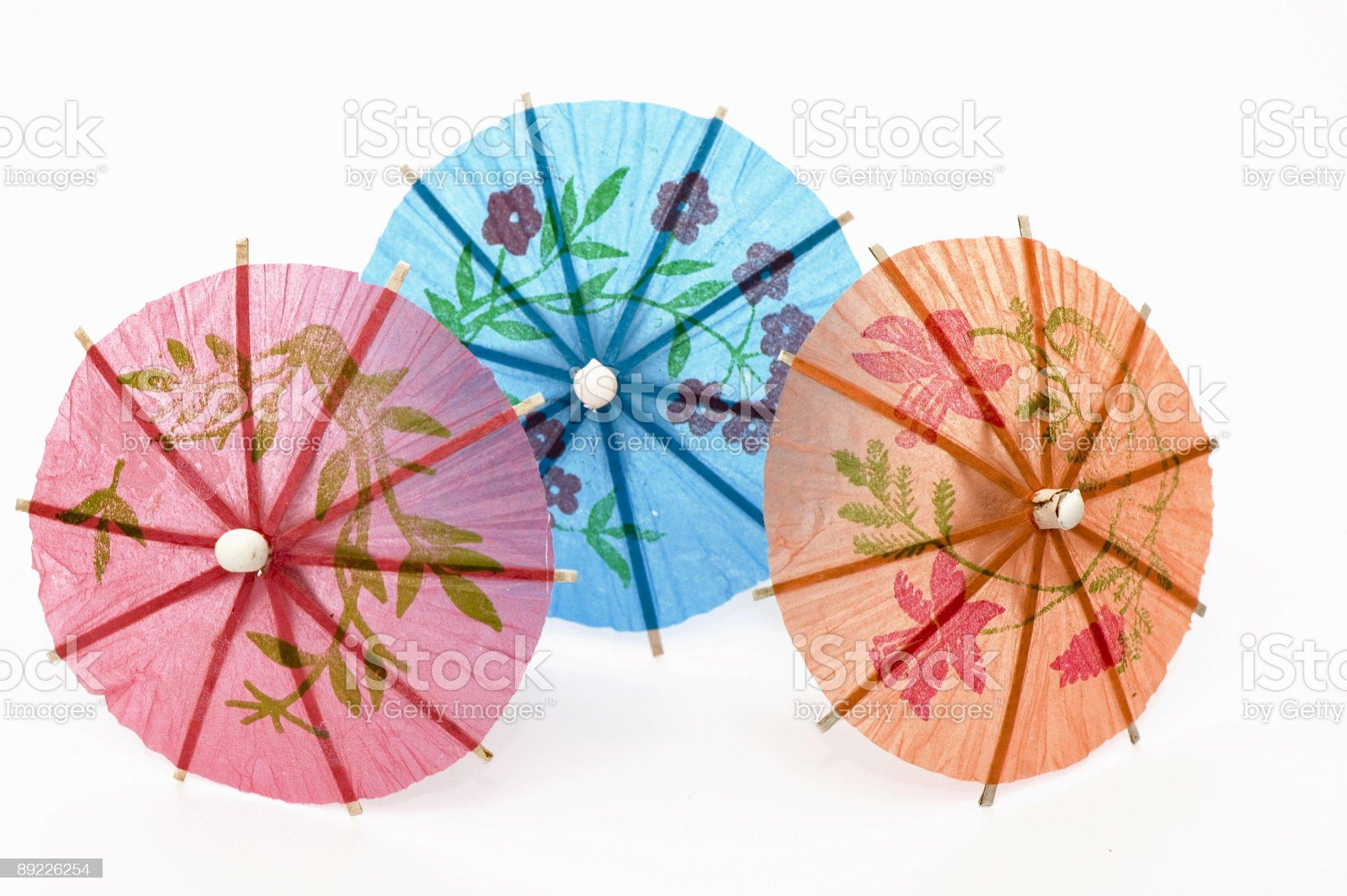 Three Party Umbrellas royalty-free stock photo