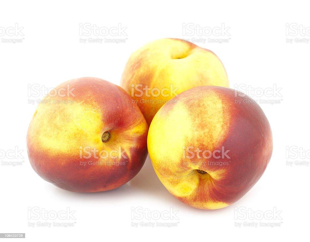 Three peaches royalty-free stock photo