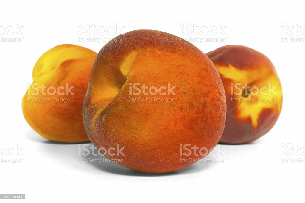 Three Peaches royalty-free stock photo